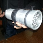 Bogdan shows me his stupidly high powered dive light.